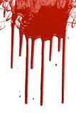 Red Paint Dripping. Isolated over white background Royalty Free Stock Photo