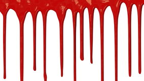 Red paint dripping down stock video footage