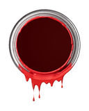 Red paint drips Stock Images