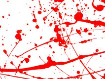 Red Paint Drips and splash on White background. Red Paint Drips and splash on White isolate background stock photography