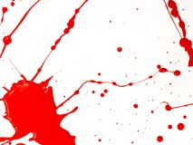 Red Paint Drips and splash on White background. Red Paint Drips and splash on White isolate background stock images