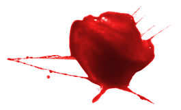Red paint drop splash artistic spot inkblot drip blood. Red ink splash liquid splattered inkblot drop royalty free stock image
