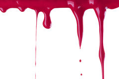 Red Paint Drop. On White Background Stock Image