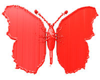 Red paint in the form of a butterfly Royalty Free Stock Photos