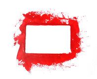 Red paint frame Royalty Free Stock Photography