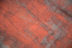 Red Paint on Steel Texture. Red Paint on Grungy Steel Texture Background royalty free stock photos