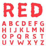 Red paint letters Royalty Free Stock Photo