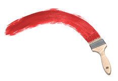 Red paint & Paintbrush. Background or design element royalty free illustration
