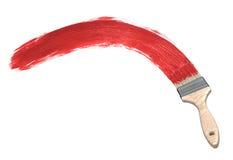 Red paint & Paintbrush Stock Photos