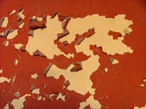 Red paint peeling Royalty Free Stock Images