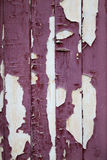 Red Paint Peeling off Wooden Planks Stock Photos