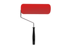 Red Paint roller isolated Stock Images