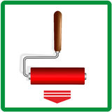 Red paint rollers Royalty Free Stock Image