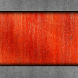 Red, paint, rusty old iron wall grunge abstract Stock Photos