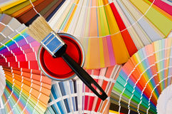 Red paint sample. Royalty Free Stock Photo