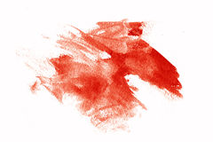 Red paint smears Stock Photos