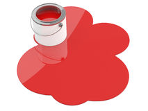 Red paint spilled Stock Photo