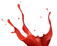 Red paint splash Stock Photo