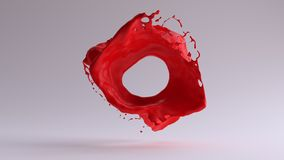 Red Paint Splash Freeze Frame stock illustration