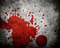 Red paint splash on grunge background Stock Image