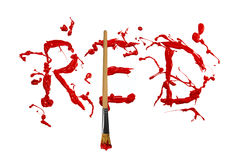 Red paint splash painted word red Royalty Free Stock Photos