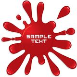 Red Paint Splash. Vector Illustration Royalty Free Stock Image