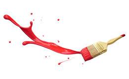 Red paint splashing Stock Image