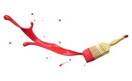 Red paint splashing stock image