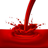 Red paint splashing Royalty Free Stock Image