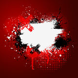 Red paint splatter. Red and white grunge paint splatter background Royalty Free Stock Image