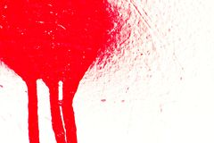 Red paint splatter Royalty Free Stock Images