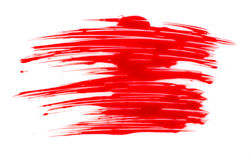 Red paint stain Royalty Free Stock Photo