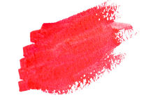 Red paint stroke Royalty Free Stock Photos