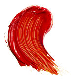 Red paint tray. Isolated over white royalty free stock photos