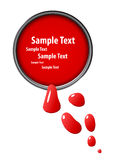 Red paint, vector Stock Photo