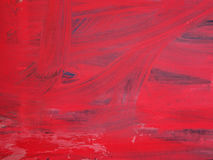 Red paint on the wall. Background Royalty Free Stock Images