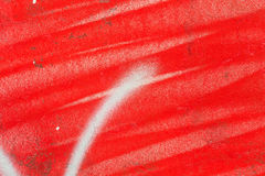Red paint on the wall Royalty Free Stock Images