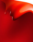 Red paint wave Stock Image