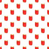 Red paintball vest pattern, cartoon style. Red paintball vest pattern. Cartoon illustration of red paintball vest vector pattern for web Royalty Free Stock Photos