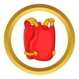 Red paintball vest vector icon Royalty Free Stock Photography