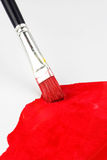 Red paintbrush Stock Photography