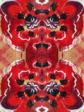 Red painted abstract Royalty Free Stock Photo