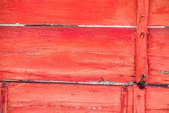 Red Painted Aged Wood Stock Image