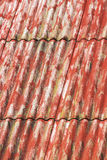 Red painted asbestos roof Royalty Free Stock Photography