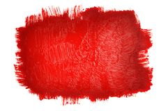 Red painted background. Isolated on white Stock Photos