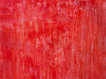 Red painted background. Bright red background hand-drawn with brush Stock Photography