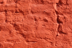 Red painted brick wall Stock Image