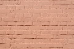 Red painted brick wall Royalty Free Stock Photo