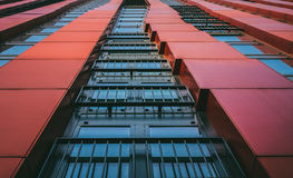 Red Painted Building Royalty Free Stock Images