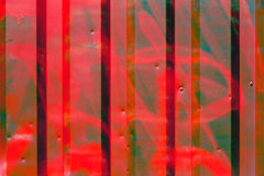 Red painted corrugated metal Royalty Free Stock Photos
